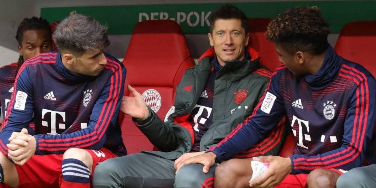 Lewandowski y Coman pelearon duramente en pleno entrenamiento del Bayern Munich