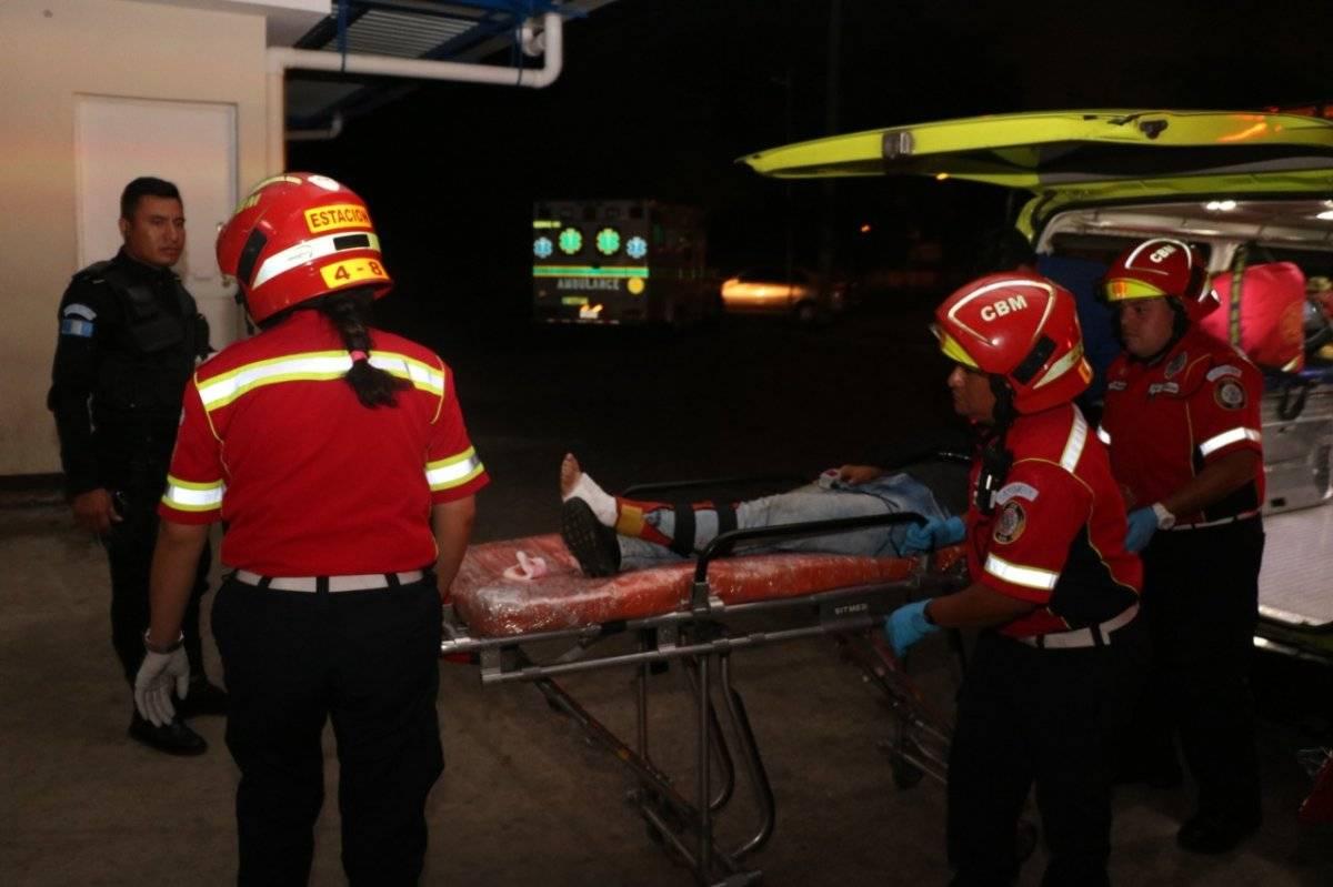 mujer herida en zona 7 de Mixco