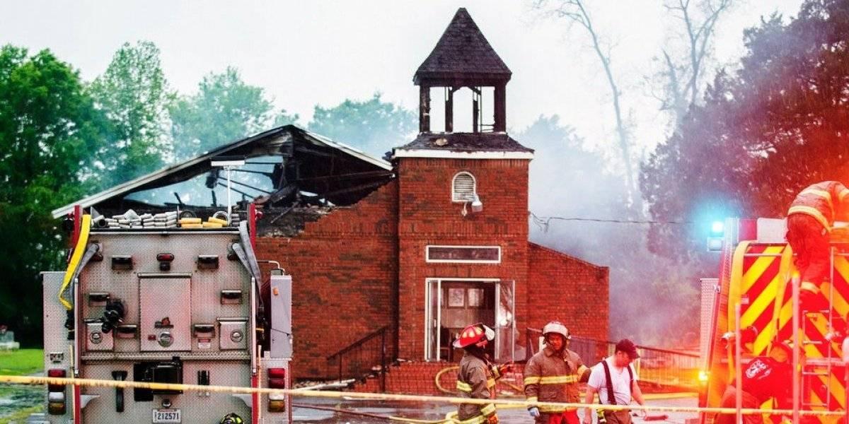 Un detenido por incendios en iglesias negras de Luisiana