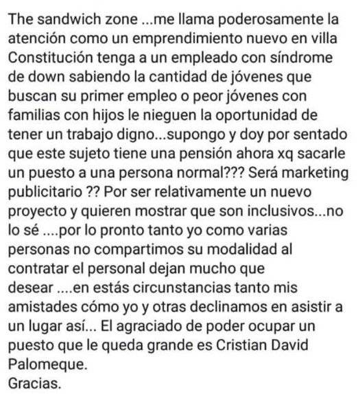 horrible publicación