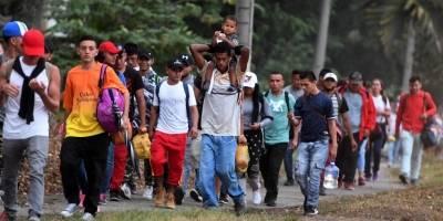 Caravana de emigrantes.