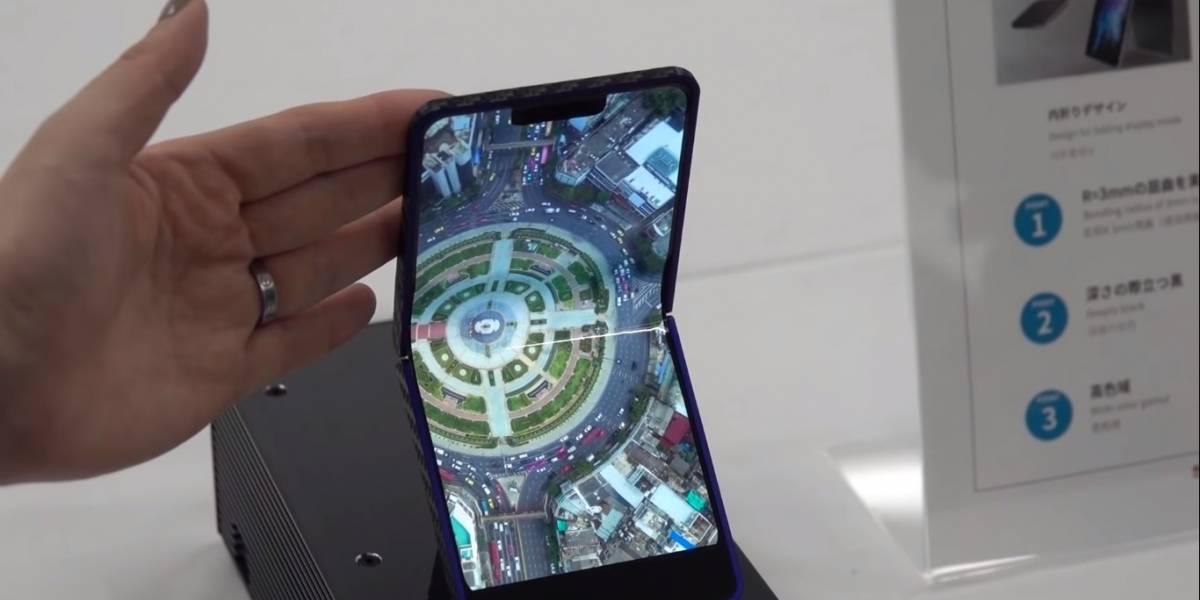 Tecnologia: Fabricante japonesa divulga protótipo de smartphone dobrável