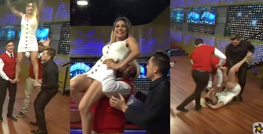 Jenny Iglesias sufre caída