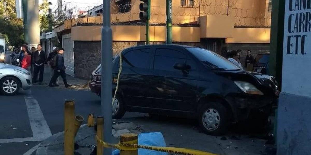 Motorista muere por accidente de tránsito en zona 10
