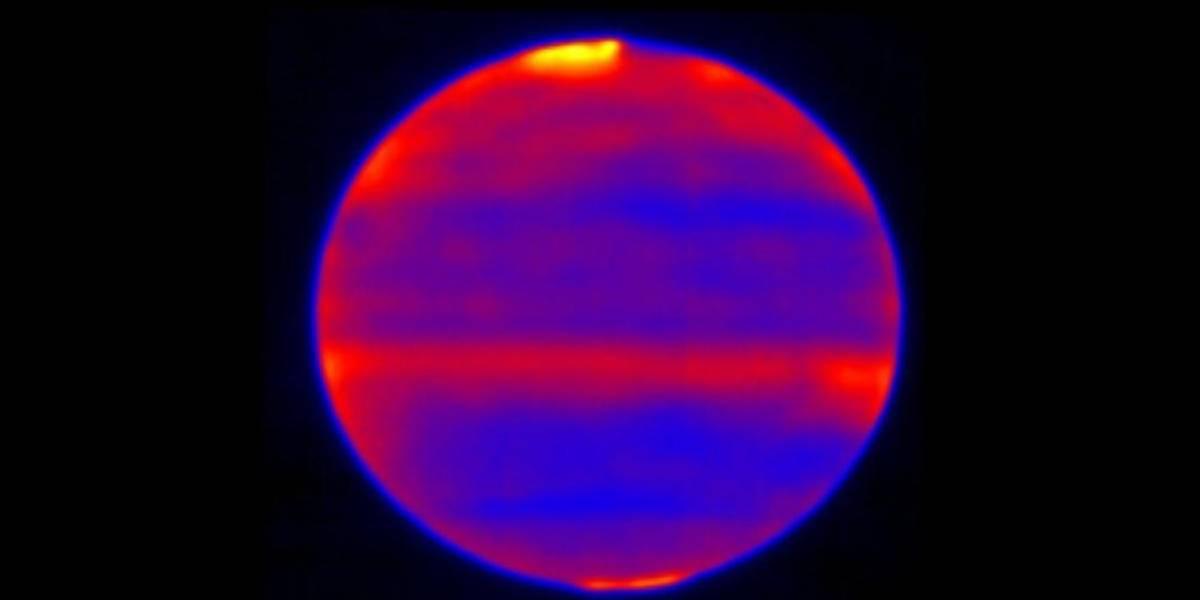 NASA divulga espetacular imagem infravermelha da atmosfera de Júpiter