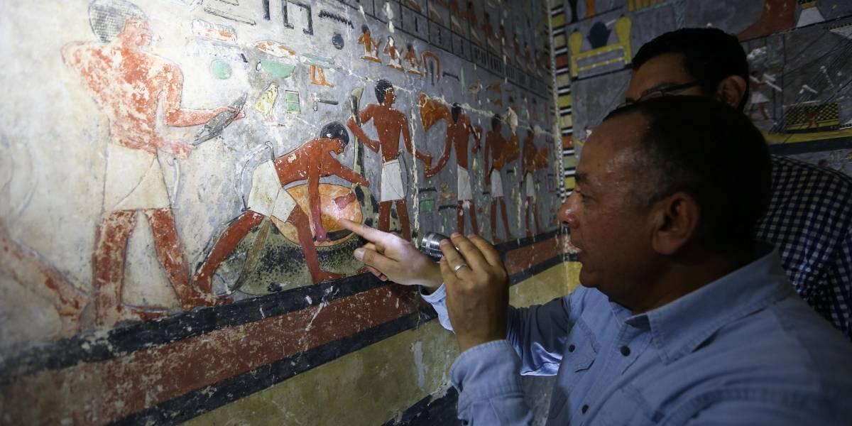 FOTOS. Descubren una misteriosa tumba de la quinta dinastía en Egipto