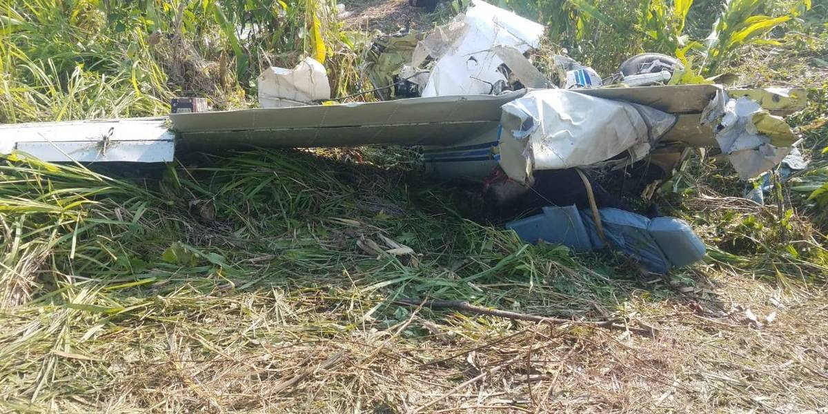 Dos muertos por accidente de avioneta en Petén