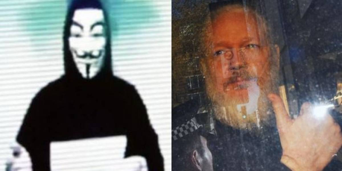 Anonymous envía contundente amenaza tras arresto de Julian Assange