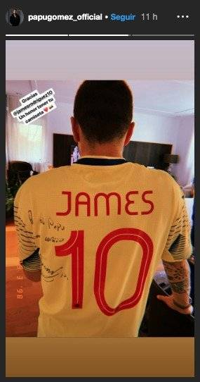 Camiseta de James al Papu