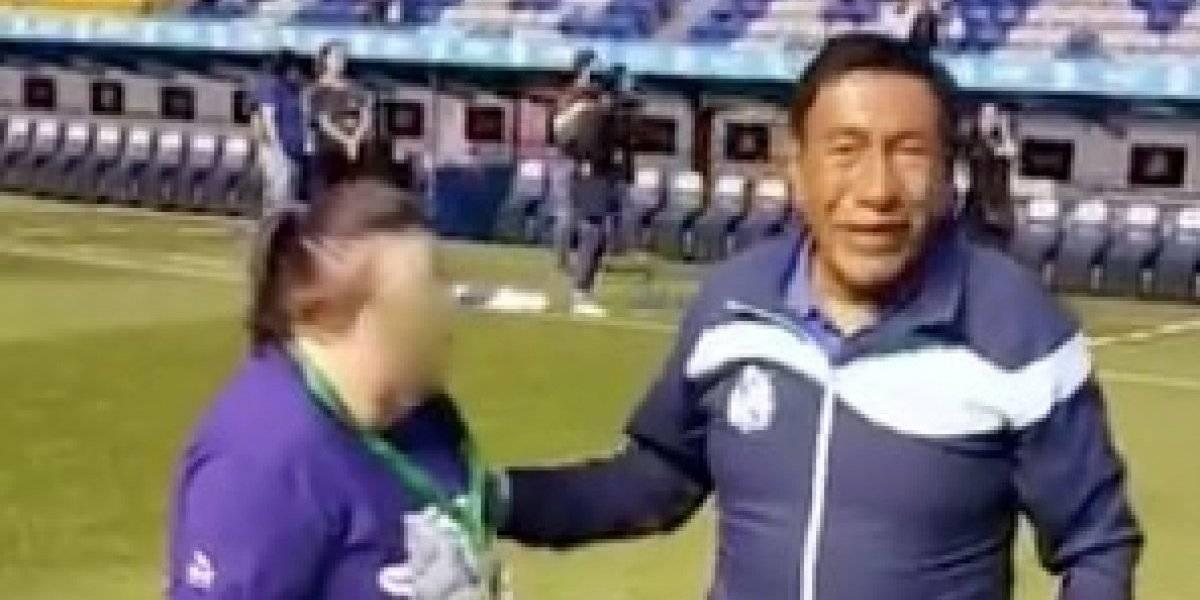 VIDEO: El increíble gesto del 'More', legendario utilero del Puebla
