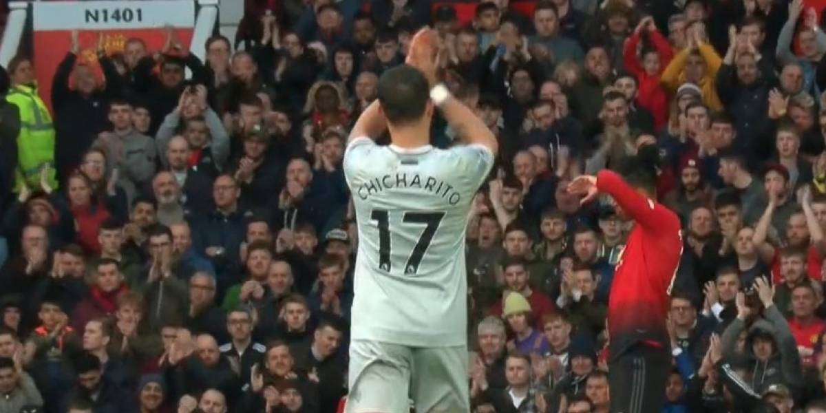 VIDEO: Afición en Old Trafford se rinde ante 'Chicharito'