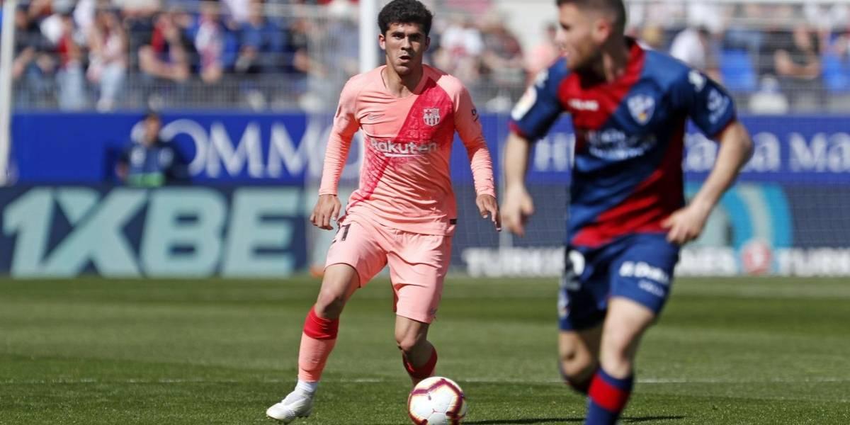 Barcelona sin Messi y con canteranos empata con el colista Huesca