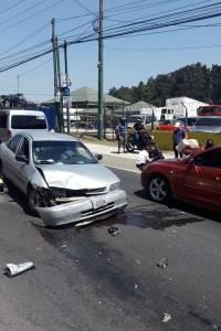 Bomberos atendieron una emergencia en el kilómetro 16.5 de la ruta Interamericana.