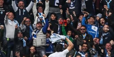 Sergio Floccari y su celebración ante Juventus