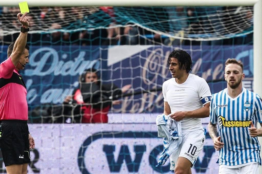 Sergio Floccari y su gol ante la Juve AFP