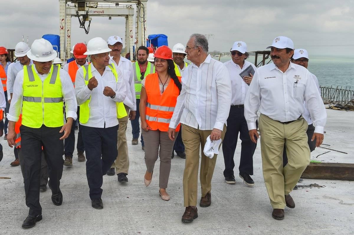 El mandatario también realizó un evento en Champotón, Campeche. Foto: Cortesía Presidencia