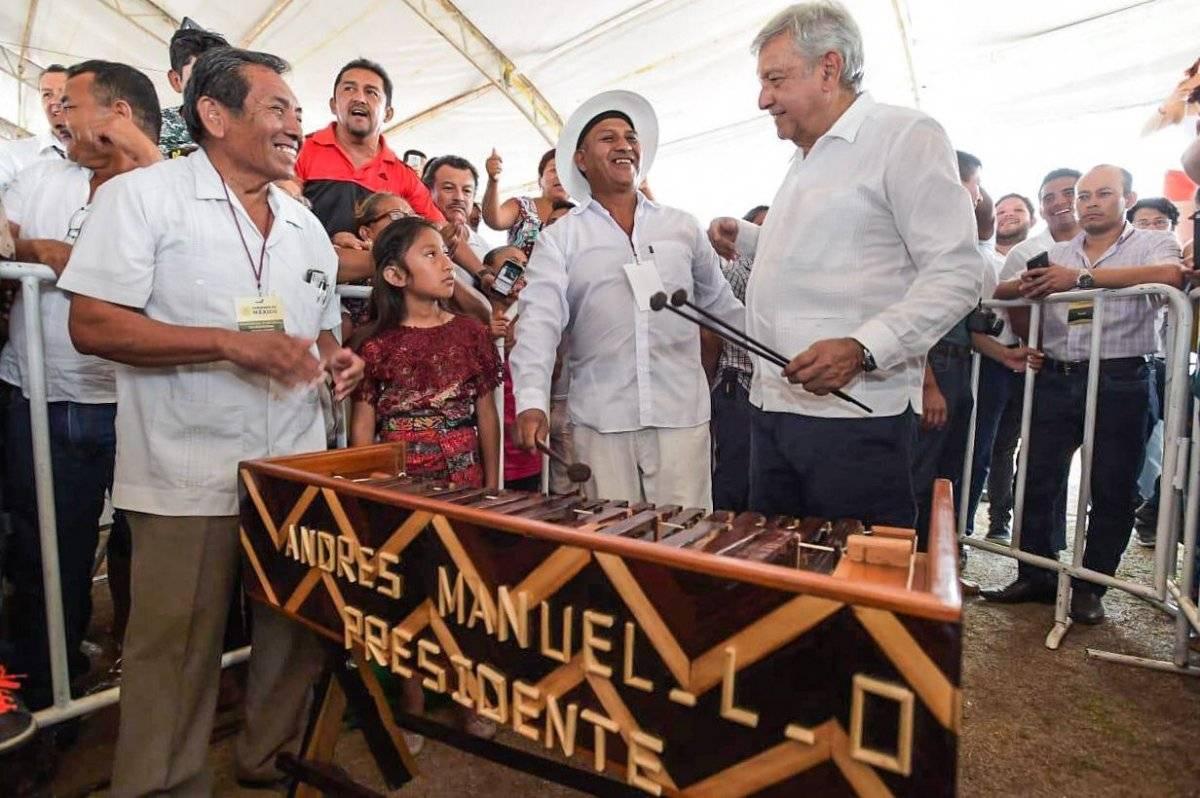 El mandatario se encuentra de gira por Campeche. Foto: Cortesía Presidencia.