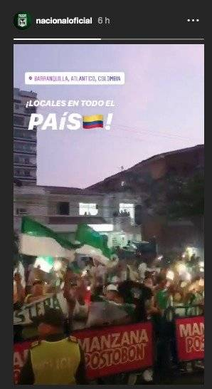 Hinchas nacional Barranquilla