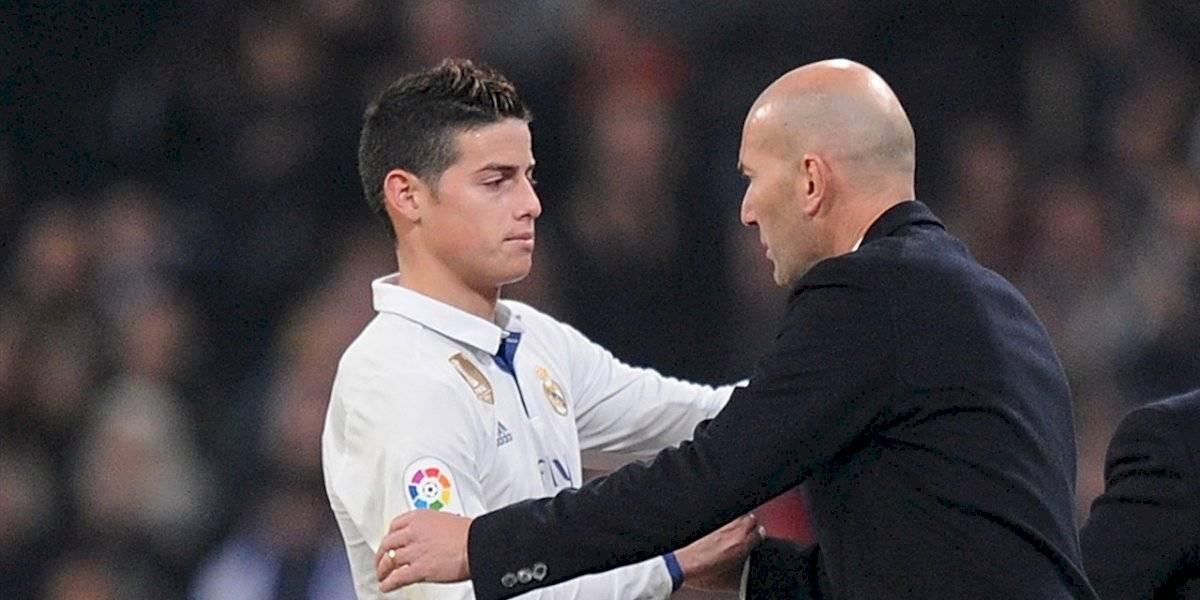 ¿Zidane sentenció a James? La decisión del Real Madrid que va en contra del colombiano
