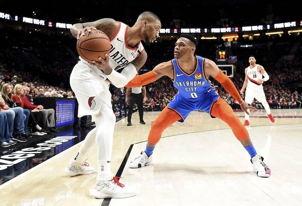 Lillard anotó 30 puntos y Westbrook su clásico triple-doble./ Getty Images