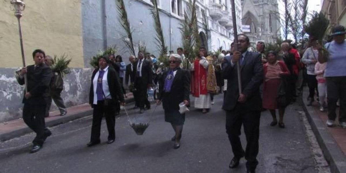 Semana Santa: Así se vivió la procesión del Domingo de Ramos en Quito