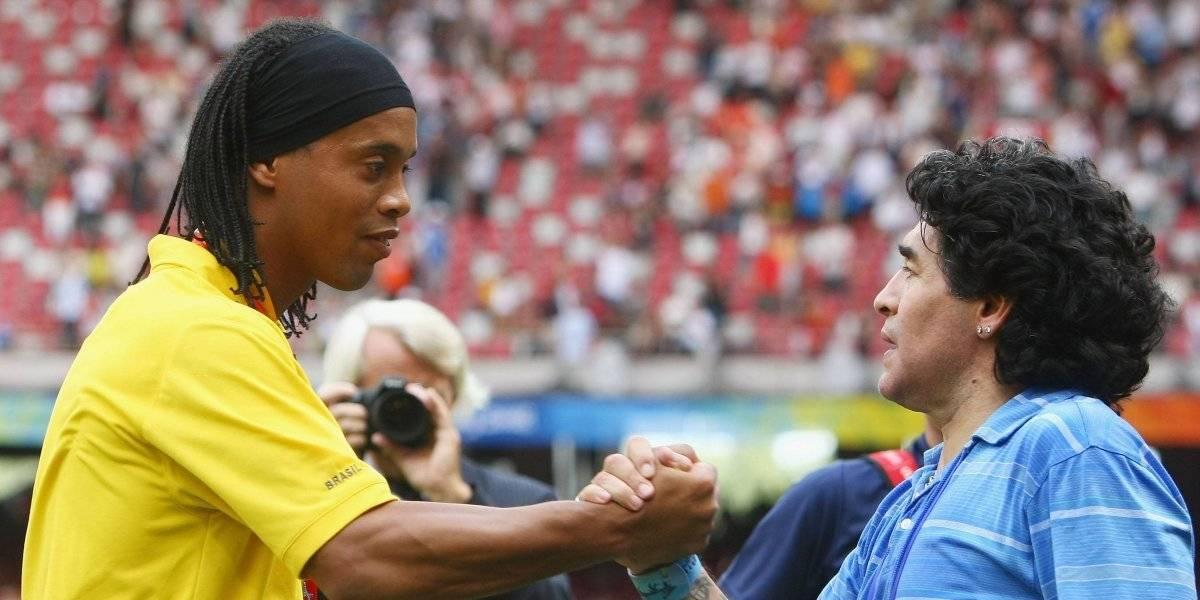 Dorados y Maradona presumen regalo especial de Ronaldinho