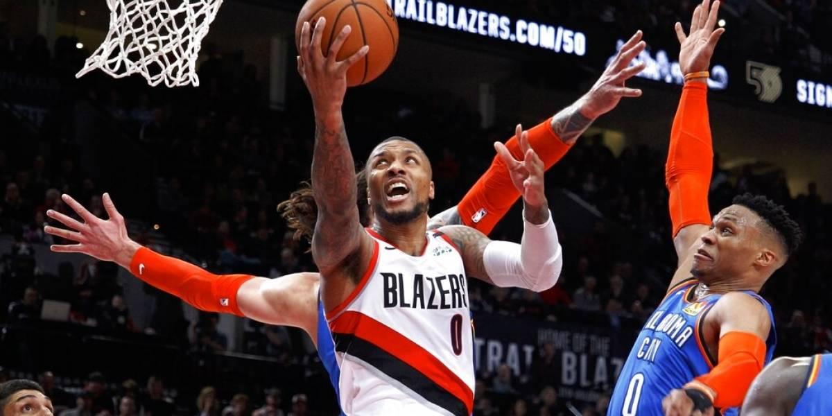 Portland sobrevive fuerte partido contra el Thunder en la primera ronda