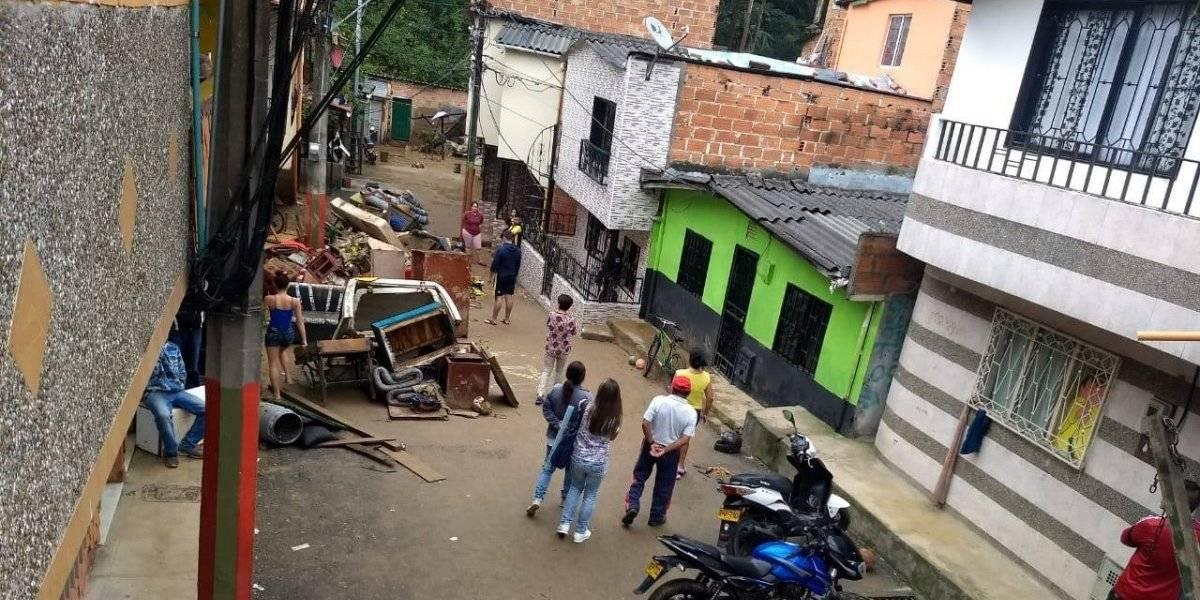 Más de 200 personas afectadas en el municipio de Caldas luego de las fuertes lluvias