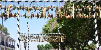 Arcos de frutas en Chicacao