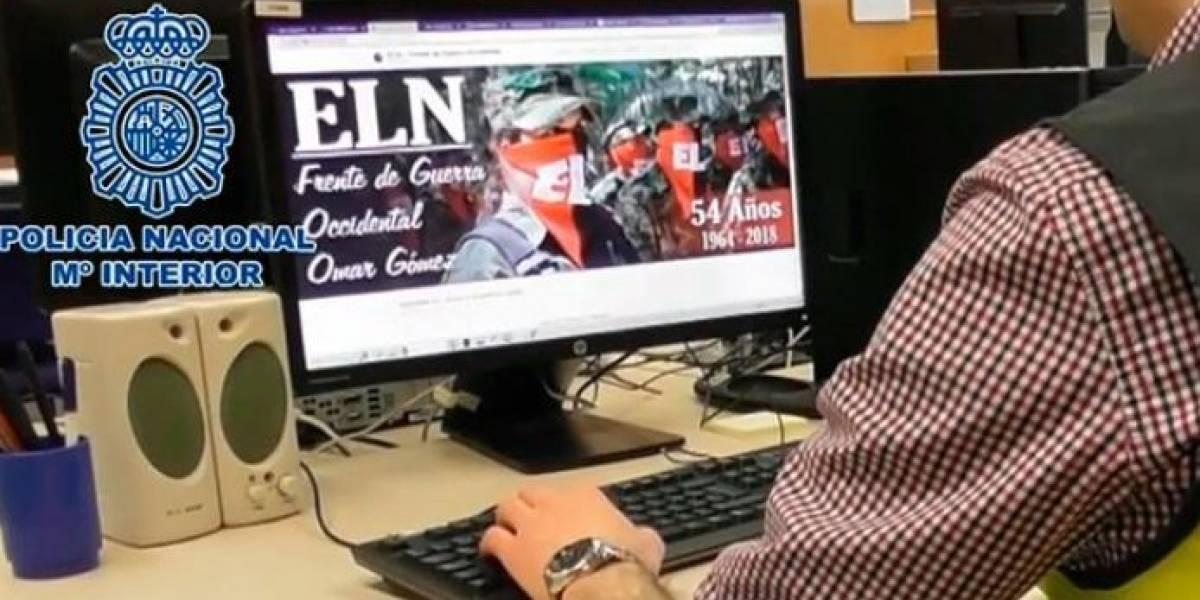 Detienen en España a hombre que administraba sitios web del Eln