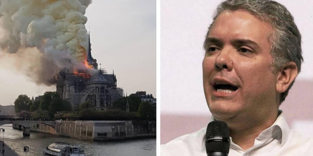 Duque lamentó el daño a la Catedral de Notre-Dame y se burlaron de él