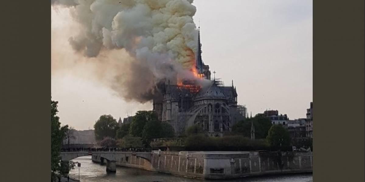 ¡Atención! Incendio consume la Catedral de Notre Dame en París