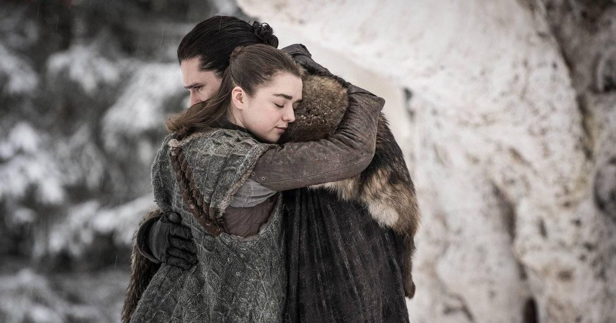 Reencuentro entre Arya y Jon Snow - Game Of Thrones