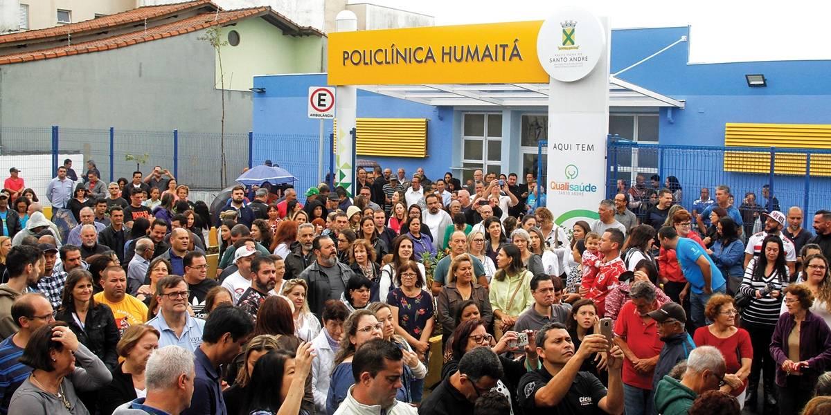 Santo André entrega Policlínica na Vila Humaitá