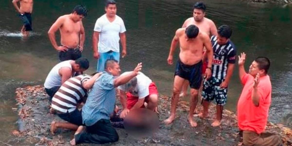 Niña de 11 años muere ahogada durante bautizo en río de Xalapa
