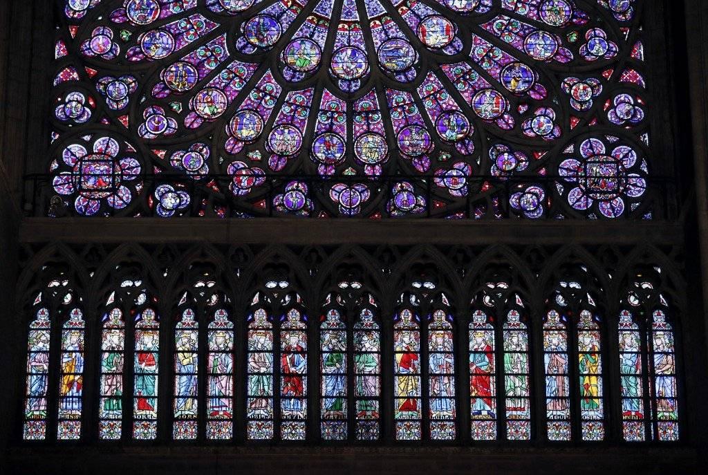 Los rosetones de la catedral de Notre Dame