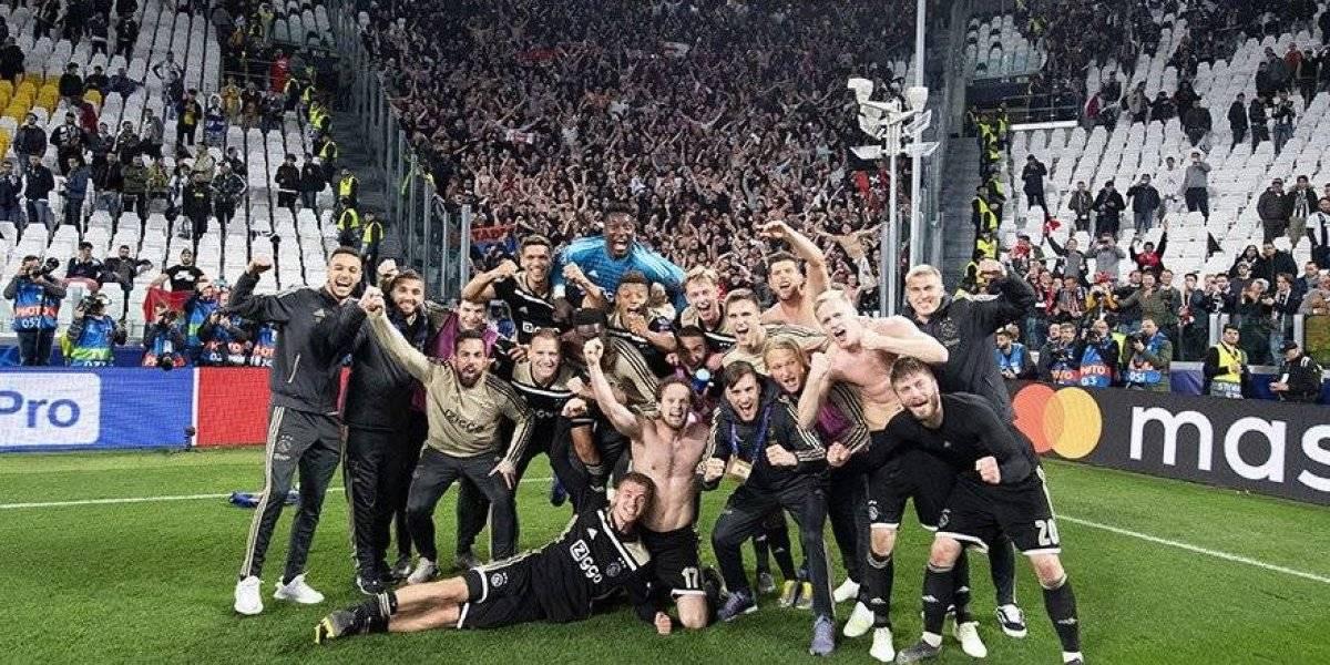 El alocado festejo del Ajax tras eliminar a Juventus de la Champions