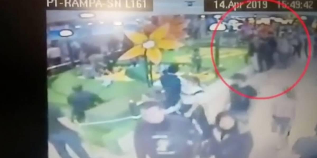 Revelan videos de cámara de seguridad del Centro Comercial Andino
