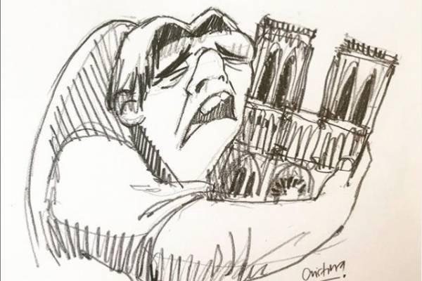 La imagen viral sobre el incendio de la catedral de Notre Dame, lo hizo una ecuatoriana