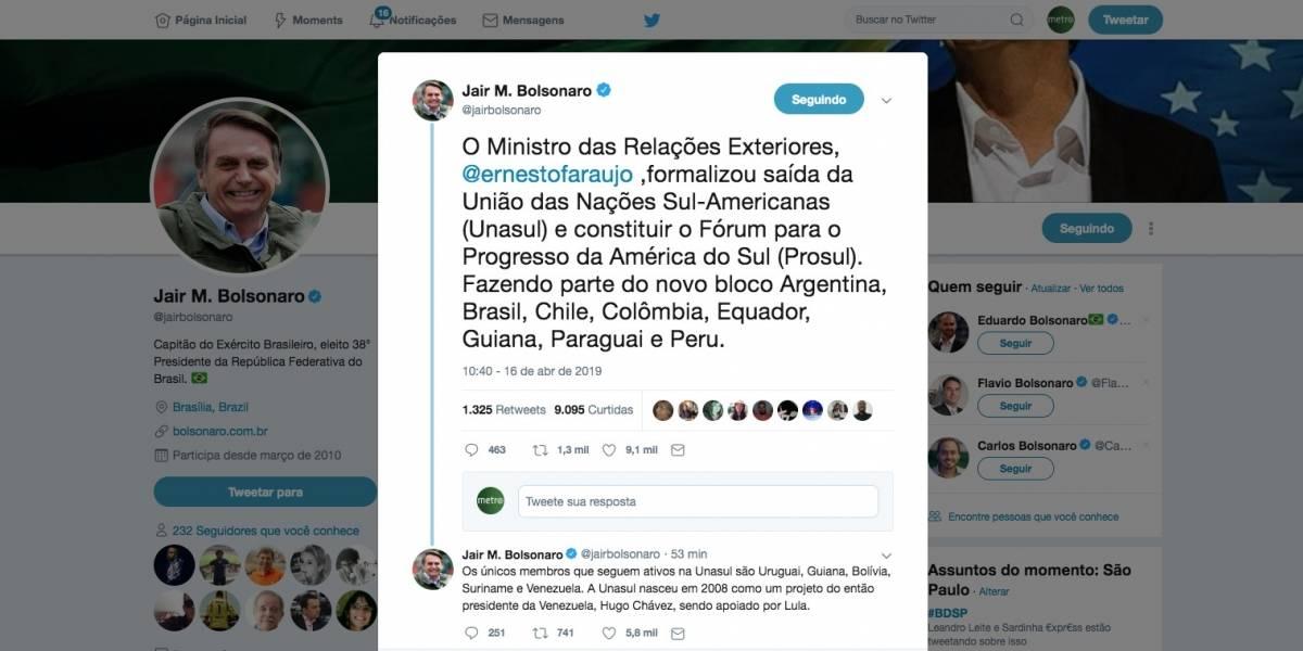 Brasil oficializa saída da Unasul e anuncia criação de novo bloco