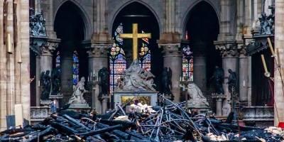 Así quedó la catedral tras el incendio en Notre Dame