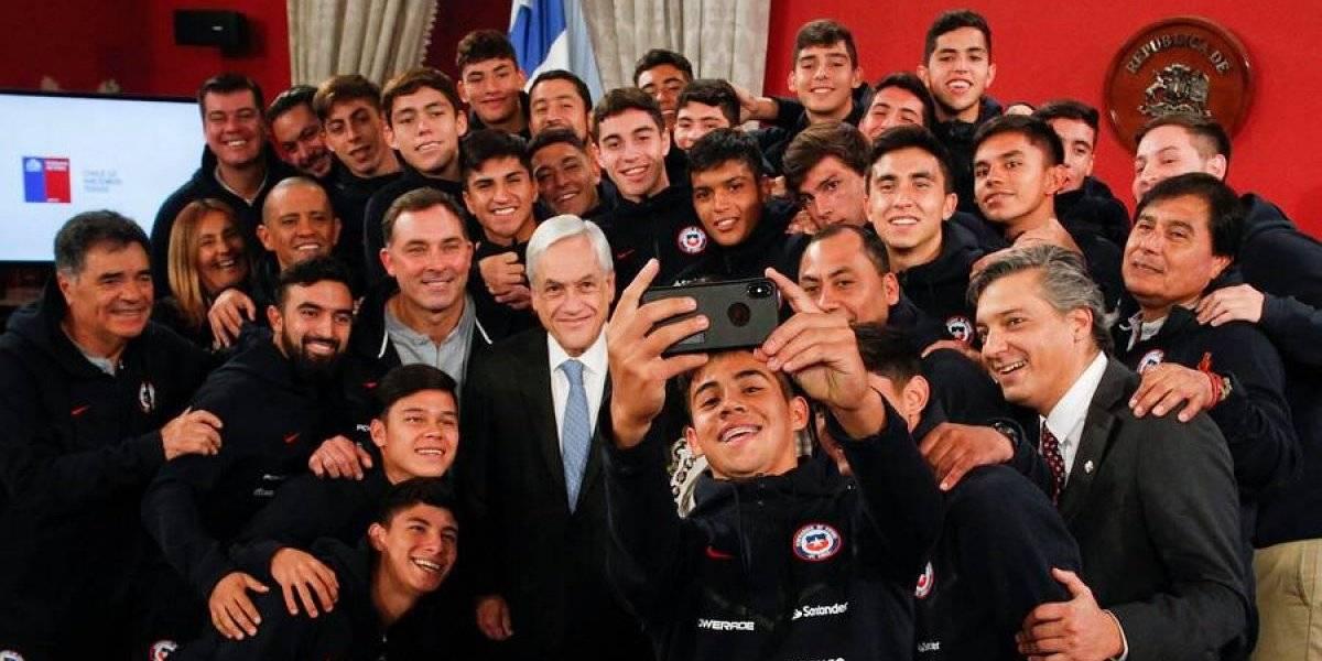 Con selfie incluida: Presidente Piñera recibe a la Roja Sub 17 en La Moneda tras clasificar al Mundial
