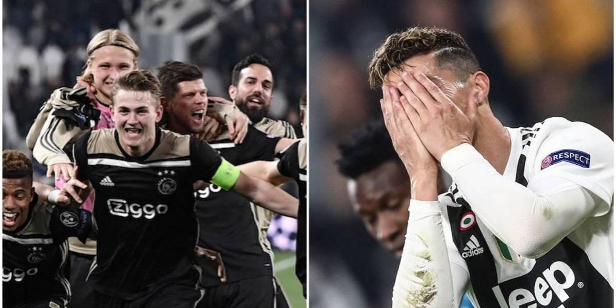 """Cristiano Ronaldo y la Juve """"lloran"""" su eliminación ante el Ajax"""