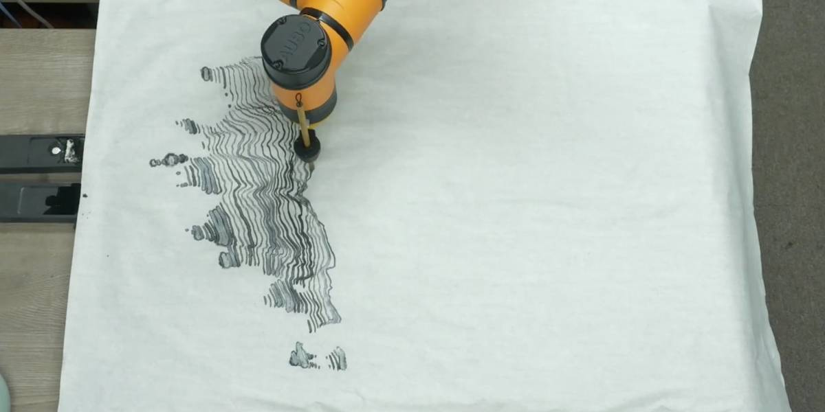 A.I. Gemini, o robô que pinta quadros inteiros no estilo tradicional japonês