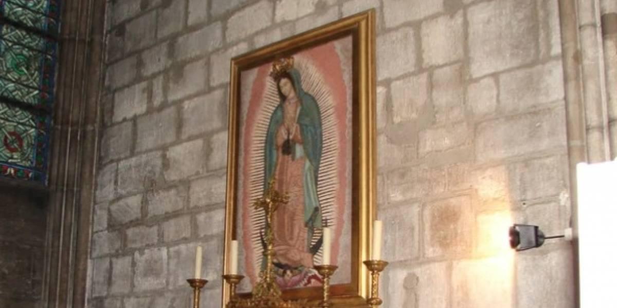 La Virgen de Guadalupe en Notre Dame se salvó del incendio