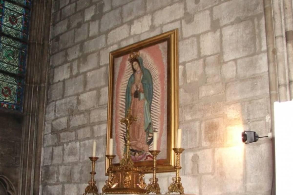 La Virgen de Guadalupe en Notre Dame se salvó del incendio thumbnail