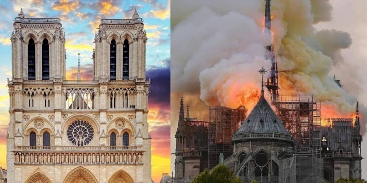 Fotos del antes y después de la catedral de Notre Dame