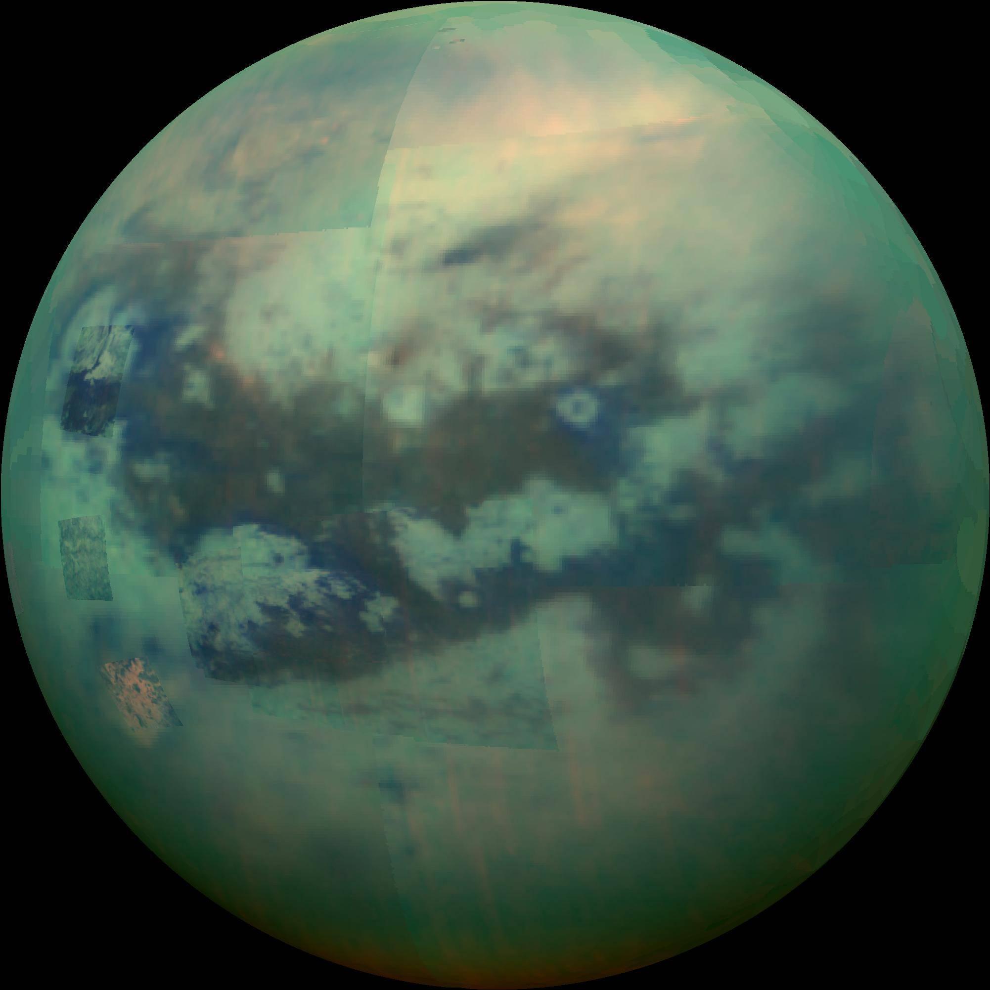Luna de Saturno Titán podría tener lagos fantasmas y cuevas ocultas