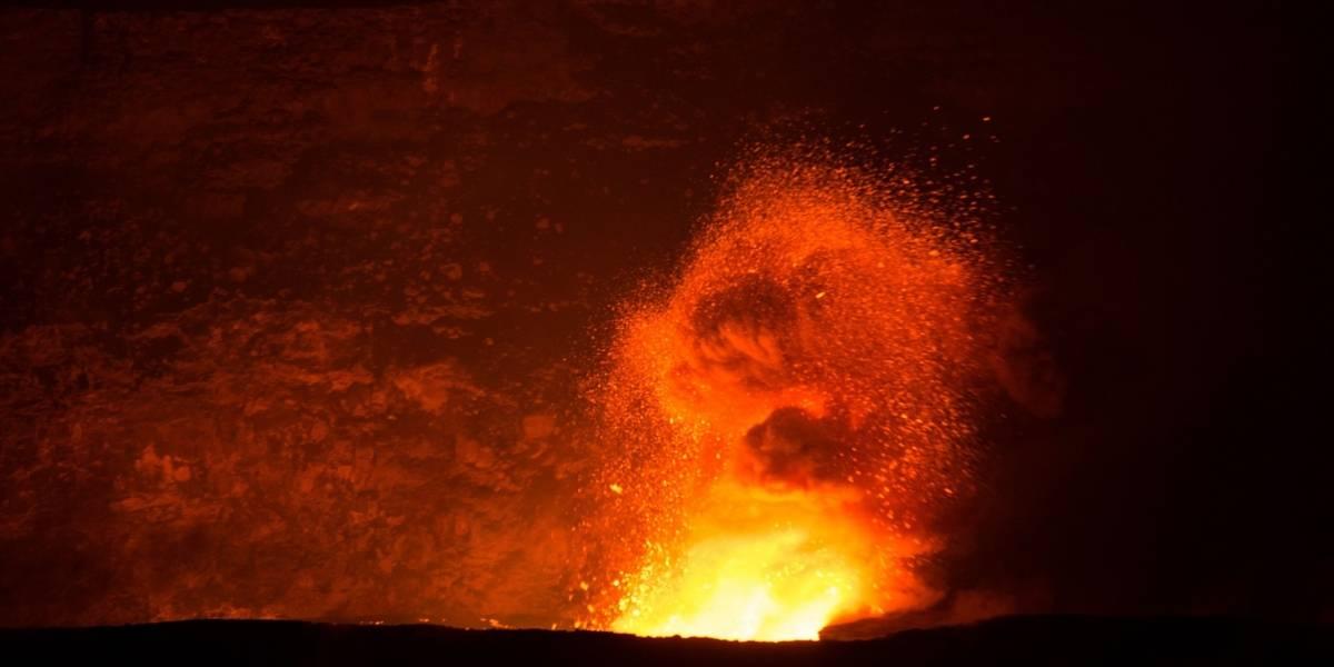Una cámara especial capta gran cantidad de flujo de lava en volcán Chillán