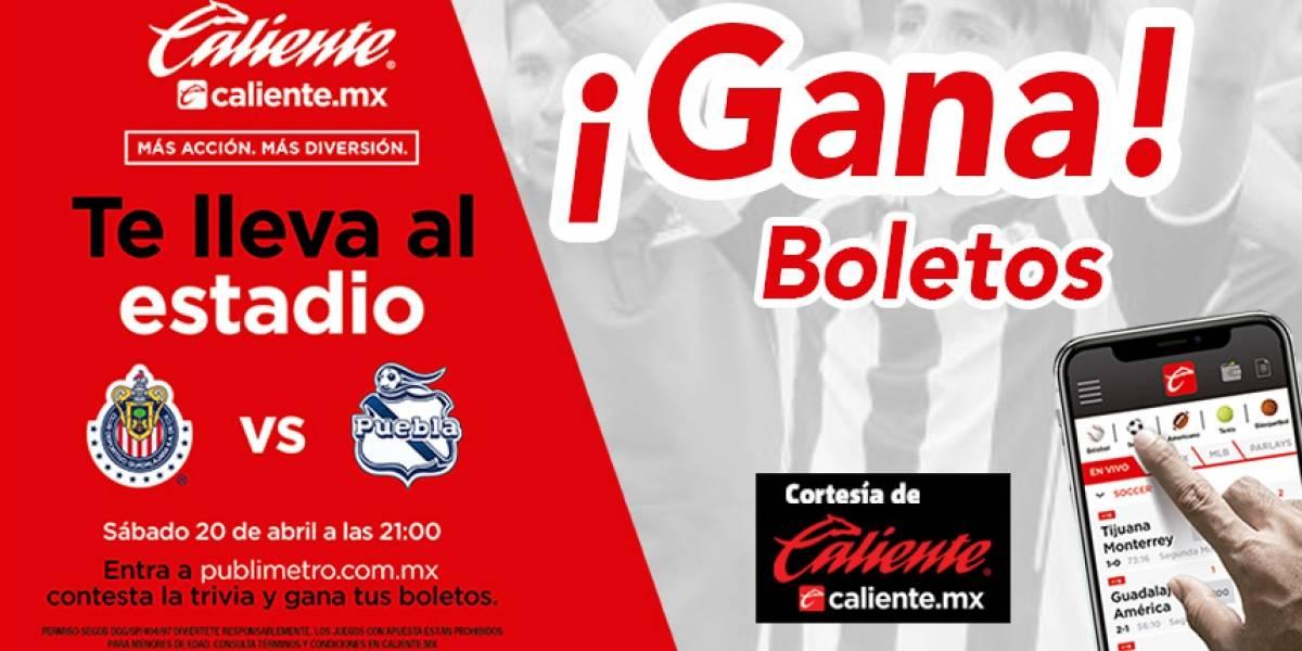 ¡Gana! pase doble para el partido Chivas vs Puebla
